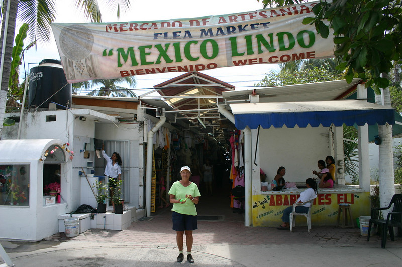 We still had some time for our $50 and we asked More (our tour guide) to take us to Miramar Beach.  Miramar Beach is the largest and most famous beach in Manzanillo.  But we were not interested in the beach.  We were interested in souvenirs at the flea market on the beach.