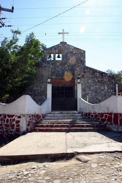 The exterior of the church.