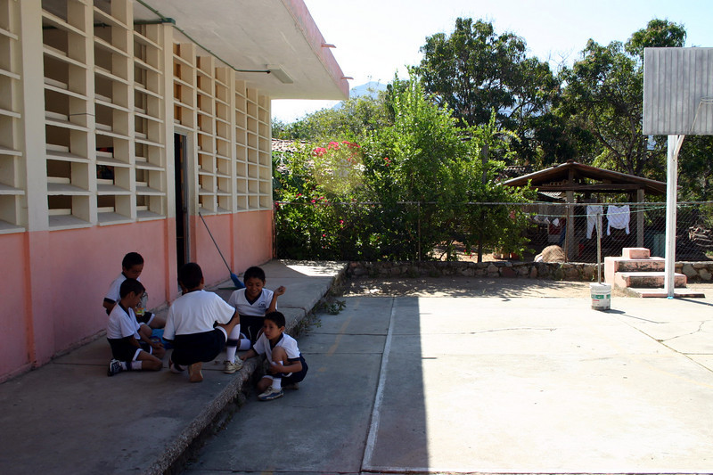 This is the court yard of the school.