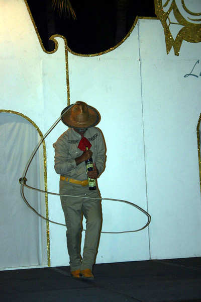 And we had a lassoo artist who twirled a rope from the top of his cowboy hat.