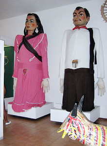 These are giant puppets used in parades.  At the Museo de Artes Populares (Museum of Popular Art)