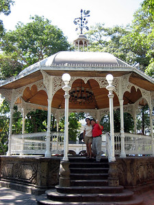 Chito, the tour guide, said this gazeebo was brought from Belgium.