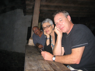 Hank, Sydney and Dennis at the local watering hole.  The music was a bit loud, but we had a good time.