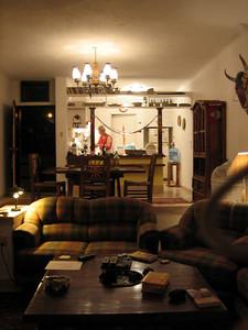 Inside Hank's place.