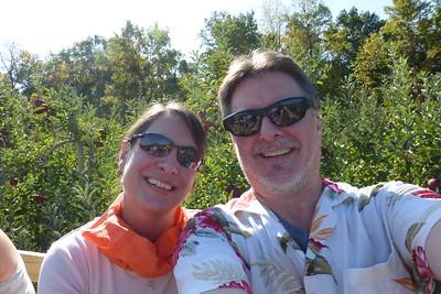 Us on the hayride.