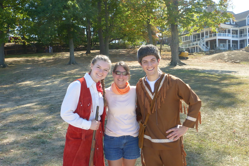 Diane with Annie Oakley and Davy Crockett