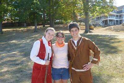 Diane with Annie Oakley and Davy Crockett