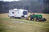 Getting the Camper Pulled out of a Muddy Pasture by a John Deere - Clayton Georgia