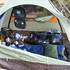 3.1.09 Gilbert Ray campground in Tucson Mountain Park - my tent where I'd live for the week :)