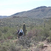 3.2.09 - Saguaro National Park - hiking out after a long day of work in 90 degree heat.