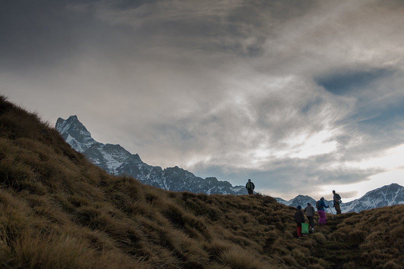 Setting Off to High Camp and Mardi Base Camp