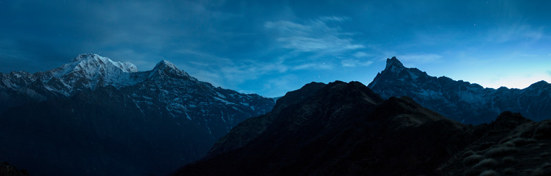 Blue Hours (Annapurna, Huichuli and Macchhapucchre)