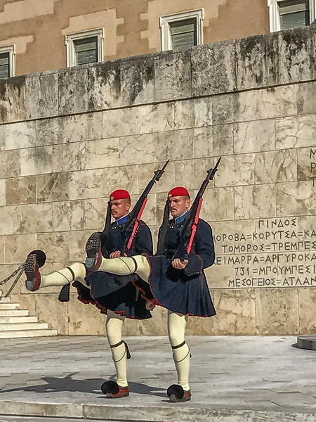 Changing of the guard at Athens Parliament, October 25, 2018.