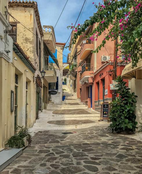 Poros, Greece.  October 21, 2018.