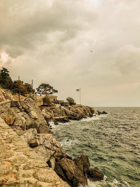 Hydra, Greece. October 23, 2018.