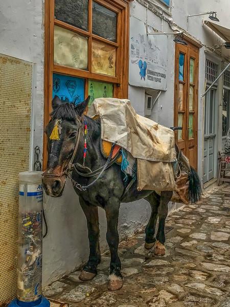 Hydra, Greece - October 23, 2018.