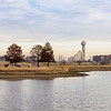 Panorama from the Trammell Crow Park under the Sylvan Ave Bridge. I thought this might be a good spot, but just too far away from the bridge. 12/21/2016. 4:50PM.