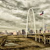 Margaret Hunt Hill Bridge, Dallas, Texas. 12/21/2016. 4:59PM, still too early. Not something I normally do, but I used a couple NIK filters.