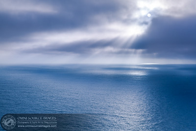 Sun Beams Over the Pacific - Point Bonita, Marin Headlands, CA