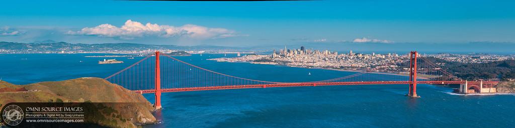 Marin Headlands / San Francisco SuperHD Panorama (13,091 x 3273 pixels/300dpi)