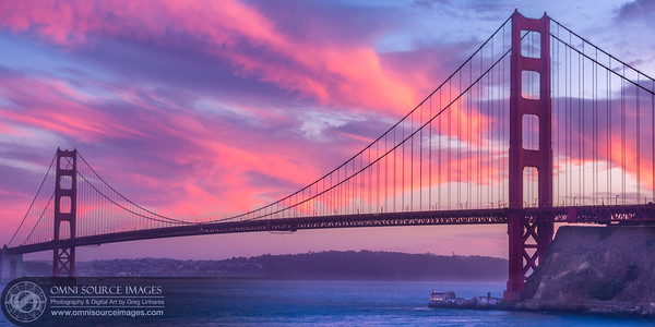 Golden Gate Bridge Sausalito Sunset