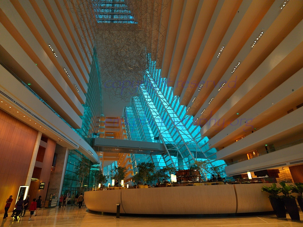 Marina Bay Sands Singapore vast spacious Interior