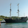 The Black Pearl. A working pirate ship that cruises the Roatan Honduras seas!