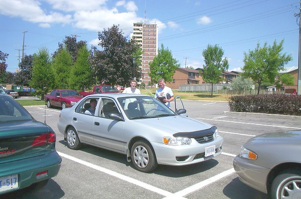 2001 Corolla used for trip to East Coast
