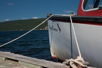 Bird watching boat, Little Bras d'Or, Cape Breton