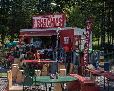 Crazy Fish and Chips Shop, Englishtown, Cape Breton
