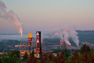 Morning mist,  Edmunston, New Brunswick