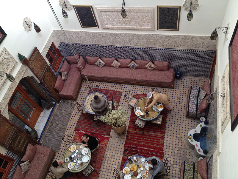 Riad Al Akahawaine, service du petit-déjeuner