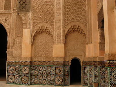 In Marrakesh at the Ben Youssef Medersa, a 16th century school.