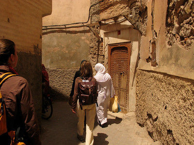 In the Medina, the old walled city, with it's narrow passageways