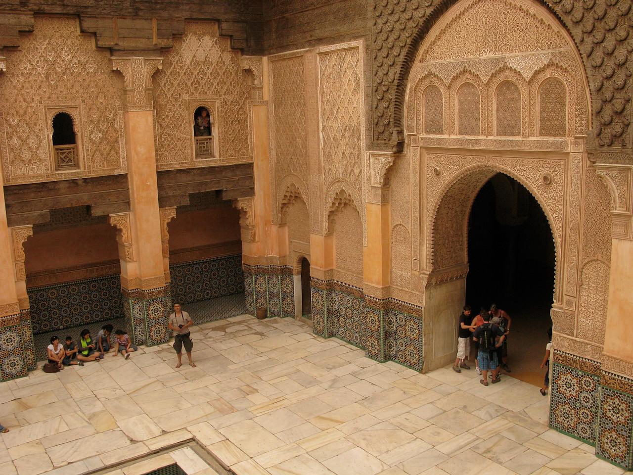 In Marrakesh at the Ben Youssef Medersa