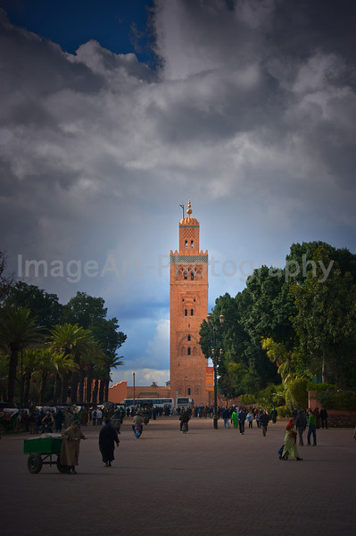 Koutoubia Mosque and Minaret Tower, Marrakesh, Morocco