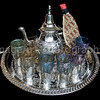 Moroccan Mint Tea Service with Arab Man Tea Cosy