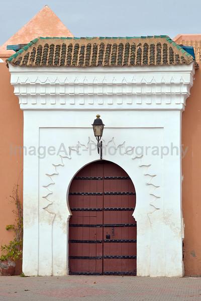 Massive wooden Mosque Door in White surround