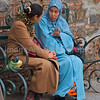 Two Arab women talking