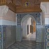 Mosaics line the walls in the Bahia Palace, Marrakesh