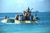 Unloading supplies on Enyu Island, Bikini Atoll - April  20, 1979