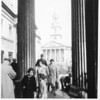 View of St. Mark's by Christopher Wren, taken from porch of National Gallery<br /> Sept. 20, 1963<br /> London