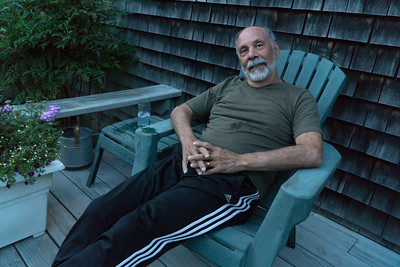 Al, relaxing on the deck.