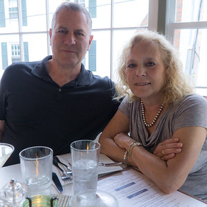 At Chesca's for dinner in Edgartown.
