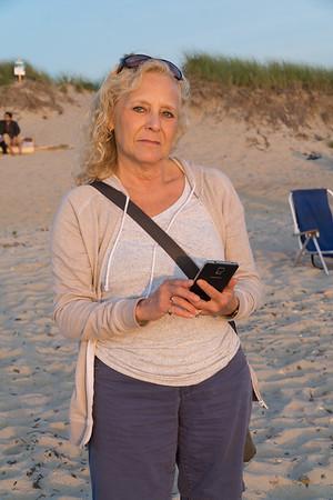 Stacey at sunset. Menemsha beach.