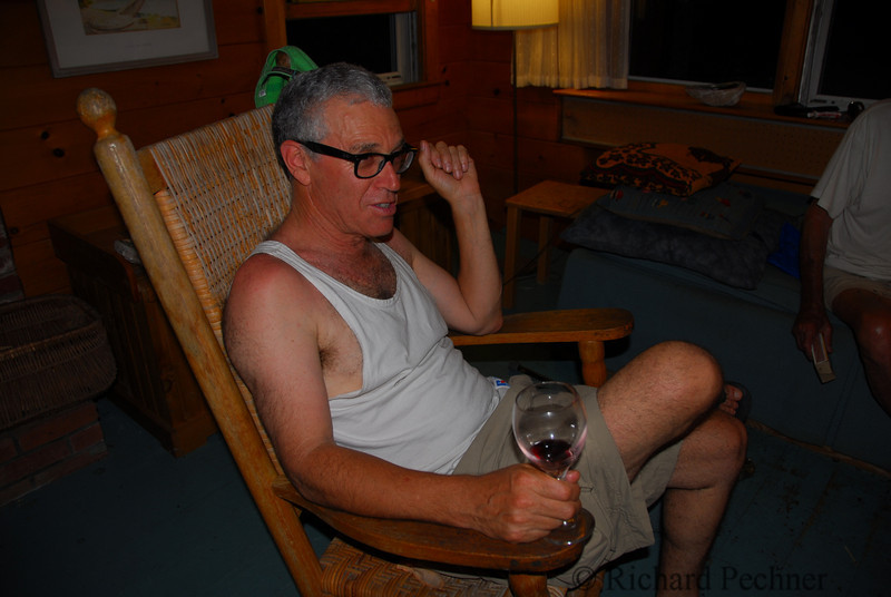 Richie Pechner enjoying a glass of red on his birthday