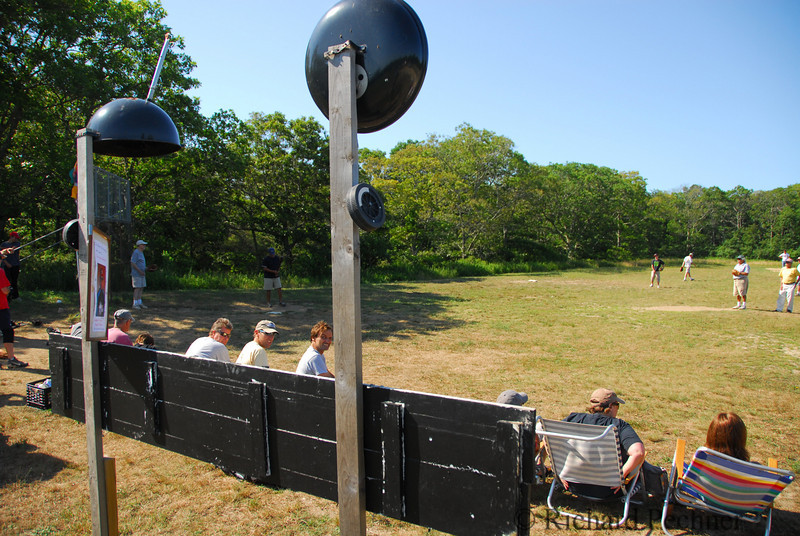 """West Tisbury field with the new bbq """"dish"""" antenna"""