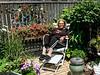 Martha in her Garden, Oak Bluffs, MA 2015