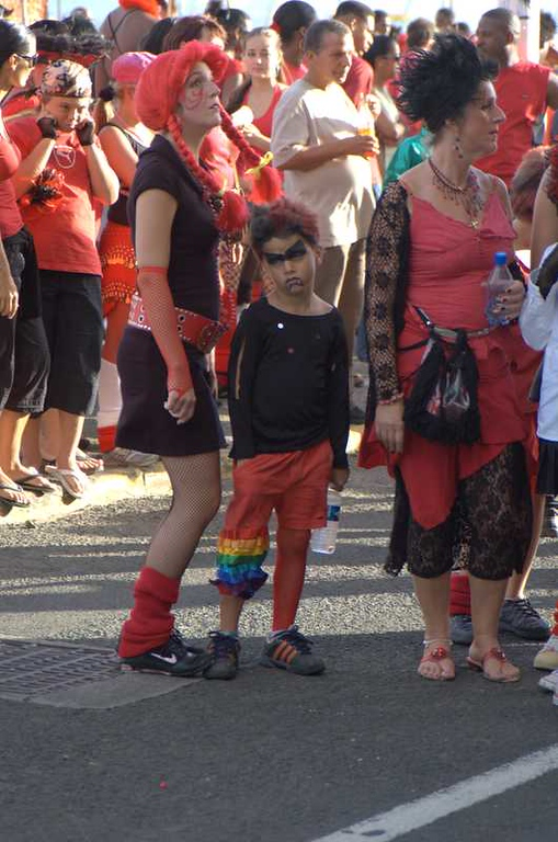 The unhappiest kid at Carnaval