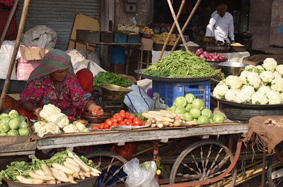 11D Note Mooli, a large radish lower left and fresh vegetables